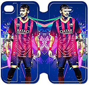 4 4s Cover,[Pu Leather Cover] Neymar Theme New iPhone 4 4s Case Cover KS0113