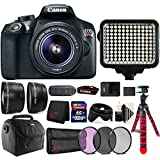 Canon EOS Rebel T6 Digital SLR with 18-55mm IS II Lens , 120 LED Light and Accessories