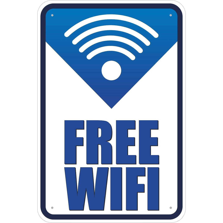Cartel Free Wifi/libre WLAN Internet de aluminio compuesto ...