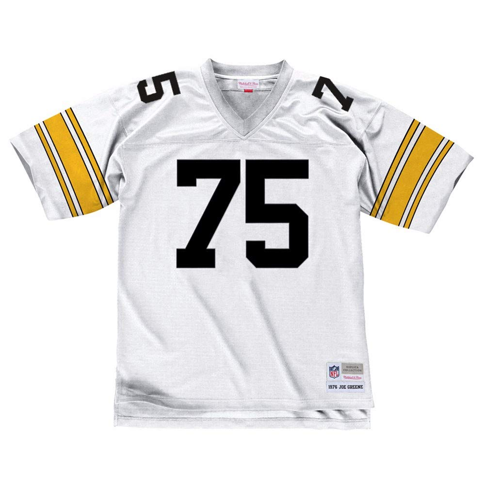 8d8d6f4f527 Amazon.com : Mitchell & Ness Joe Greene 1976 Pittsburgh Steelers Road White  Legacy Jersey : Sports & Outdoors