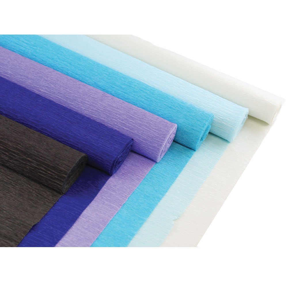 Just Artifacts Premium Crepe Paper Rolls 6pcs, Color: Shades of Green 8ft Length//20in Width