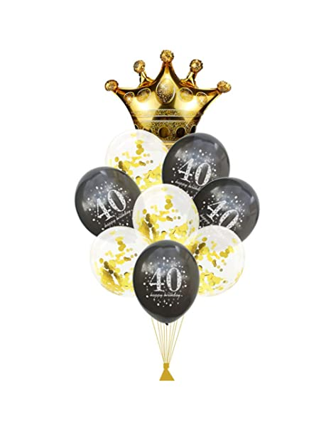 WSJQQ 40 Globos De Cumpleaños Fiesta 40 Años De Cumpleaños ...