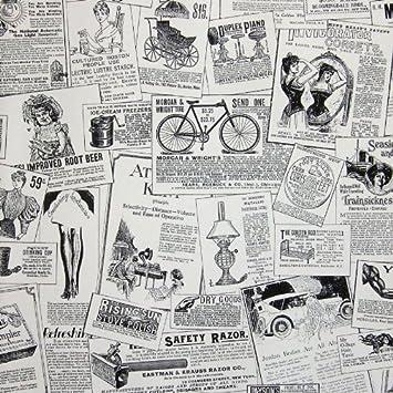 Zeitung Tapete galerie black white vintage advertisements zeitung tapete