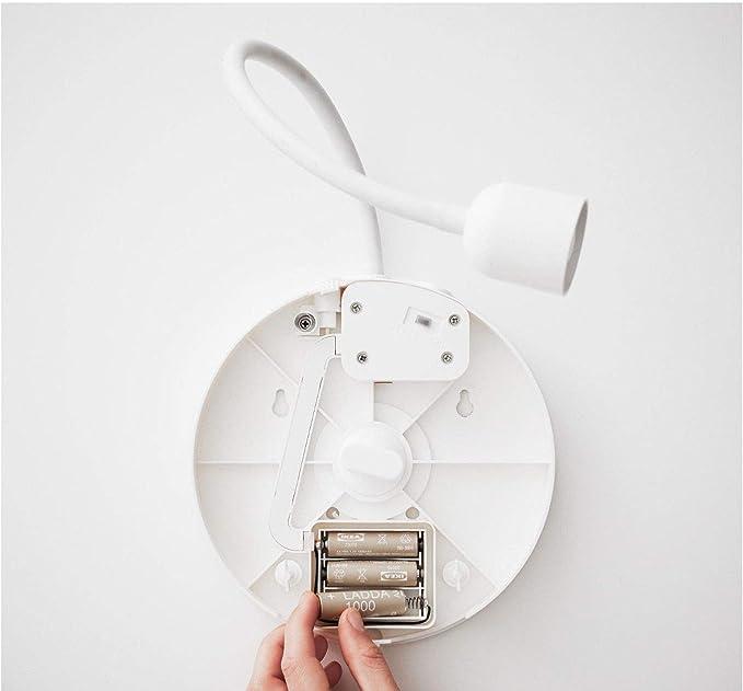 Ikea LED blavik – Lámpara de pared con espejo; en blanco; funciona ...