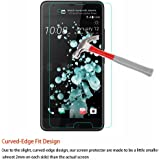 M.G.R.J Tempered Glass Screen Protector with Ultra Slim 9H Harness, 2.5D Round Edge, Crystal Clear for HTC U Ultra