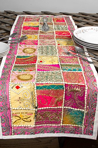 Embroidered Bohemian Colorful Patchwork Decoration product image
