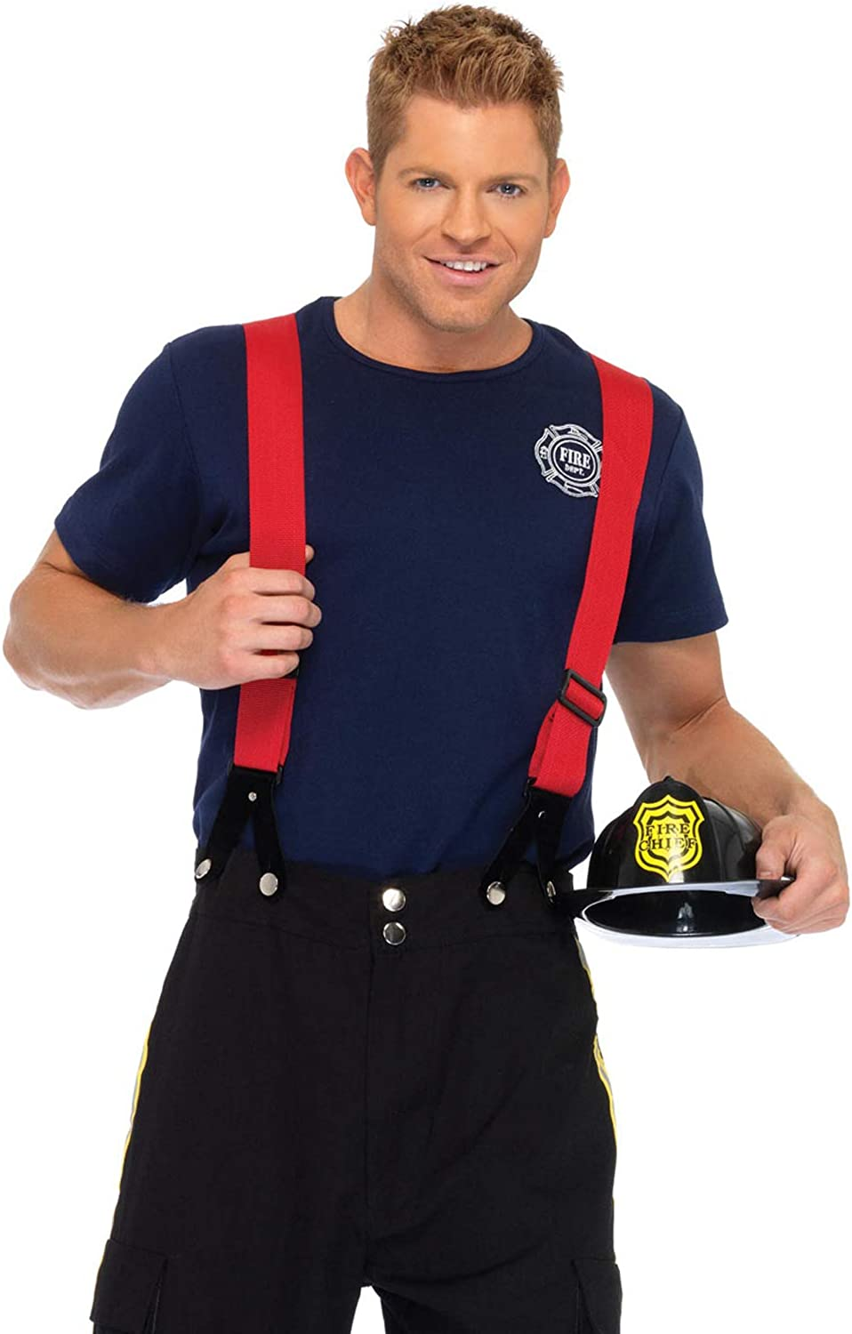 Leg Avenue Men's 3 Piece Fire Captain Costume