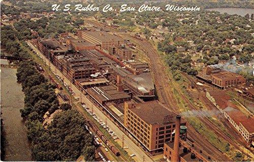 Eau Claire Wisconsin US Rubber Company Vintage Postcard - Us Company Rubber