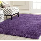 bright colored area rugs - Crafted Purple Shag Woven Area Rug (3' x 5'), Luxurious Comfort, Plum Colored Floor Carpet, Vivid Pop Color, Bright Solid Pattern