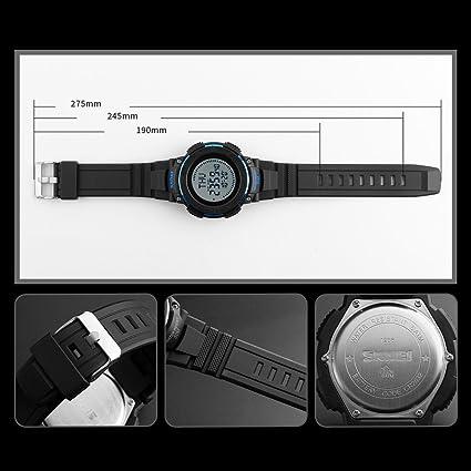 Digital Watches Useful Skmei 1236 Led Digital Watch Men Waterproof Compass Wrist Watches Men Luxury Brand Military Outdoor Sport Clock Mens Wristwatch Complete In Specifications