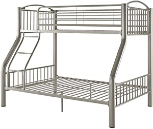 Powell Furniture Over Full Bed, Twin, Pewter
