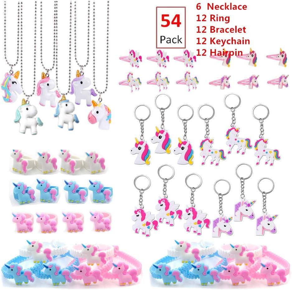 Silicon Unicorn Keyring Pendant Key Chain Kids Birthday Party Decor Accessory