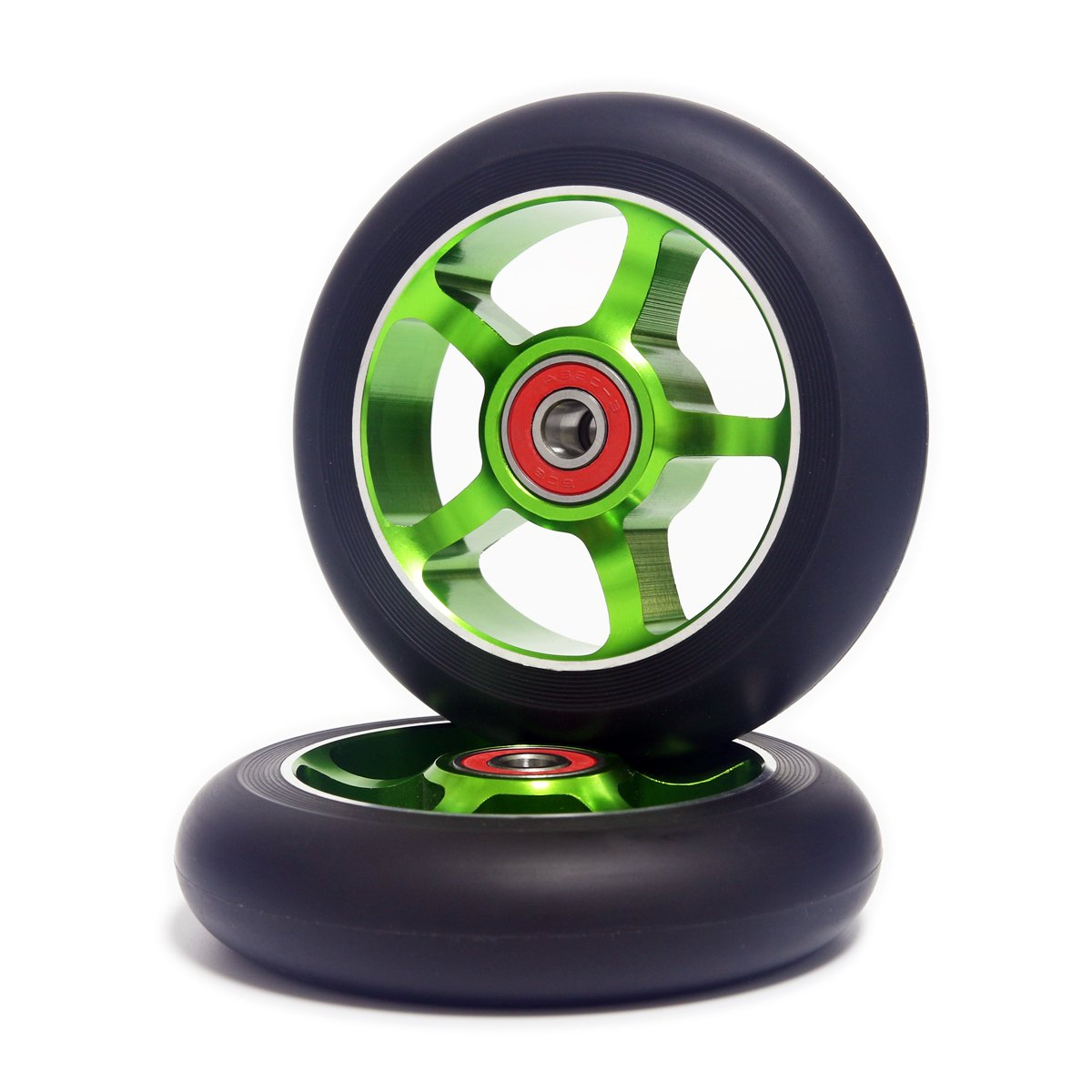 Z-FIRST 2Pcs 100 mm Pro Stunt Scooter Wheels with ABEC 9 Bearings for MGP//Razor//Lucky//Envy//Vokul Pro Scooters Replacement Wheels