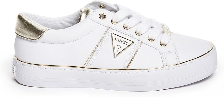 ... GUESS Factory Women s Gilda Logo Metallic Trim Low-Top Sneakers ... 98445f6214