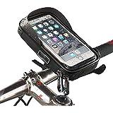 """Vélo Support de téléphone, Etanche du Guidon Fixation Universel Rotatif à 360 avec la Taille en Dessous de 6"""" Résistant à la Poussière Pluie Neige Sacs de châssis avant pour iPhone 7 6 6s GPS"""