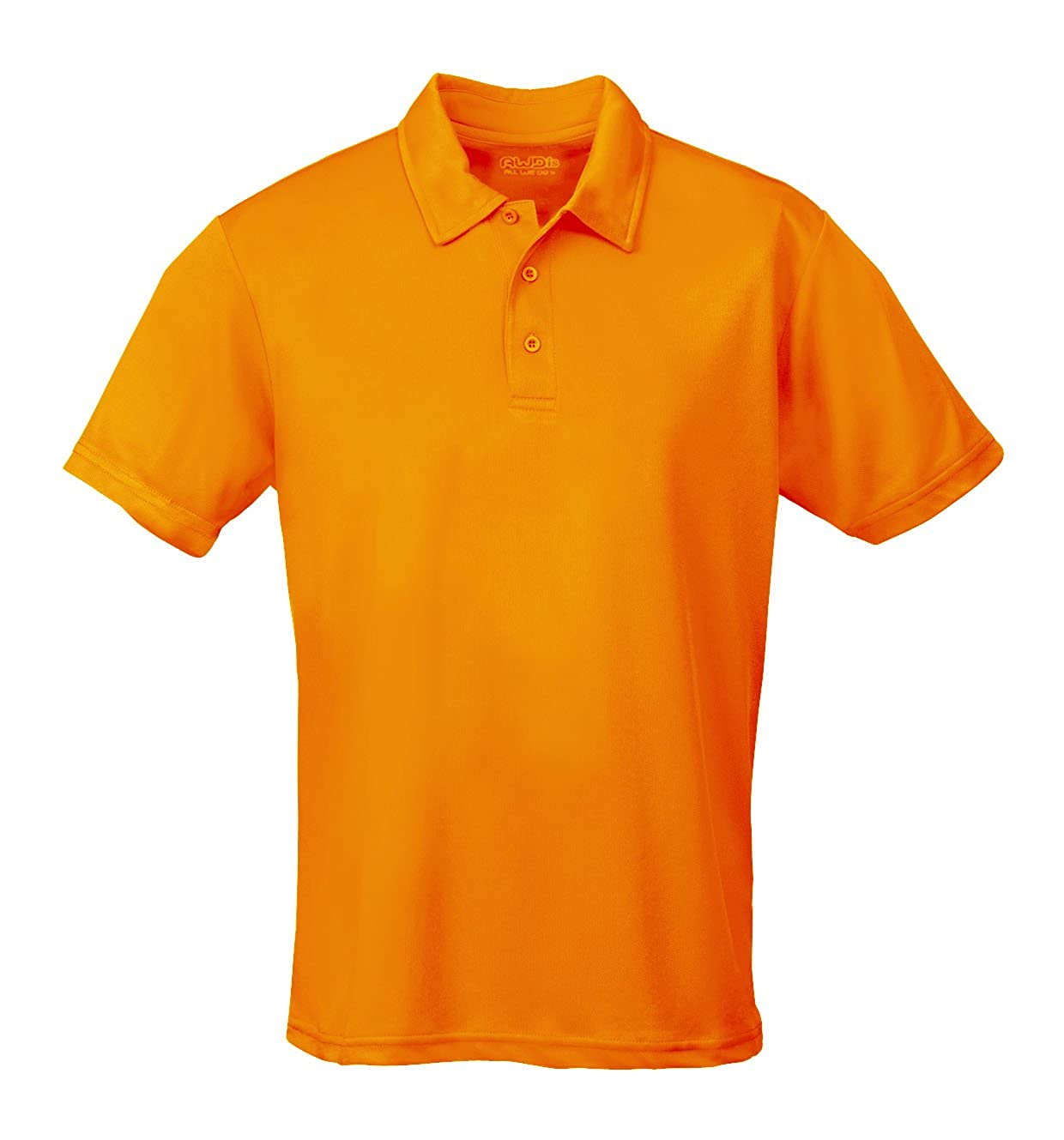 AWDis Mens Short Sleeve Cool Polo Shirt Orange Crush