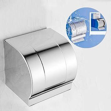 WC Reserverollenhalter Ersatzpapierhalter Edelstahl neu
