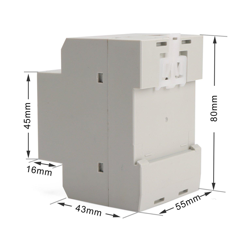 DROK DIN Rail Digital Multimeter AC Voltmeter Ammeter Power Energy KWh Meter Power Factor Accumulation Time Monitor Multifunction Meter by DROK (Image #8)