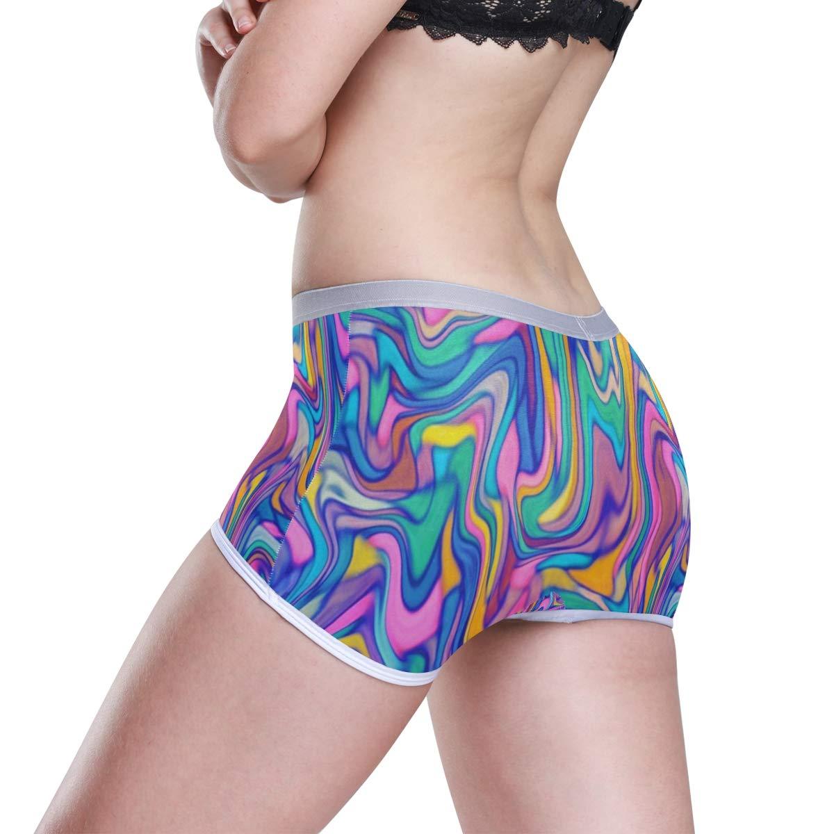HangWang Colorful Bright Neon Boyshort Panties Womens Breathable Boyshort Hipster Panty Underwear