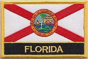 Florida State nosotros bandera bordada Rectangular parche Badge