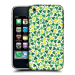 Head Case Designs Ditsy Shamrock Patterns Protective Snap-on Hard Back Case Cover for Apple iPhone 3G 3GS