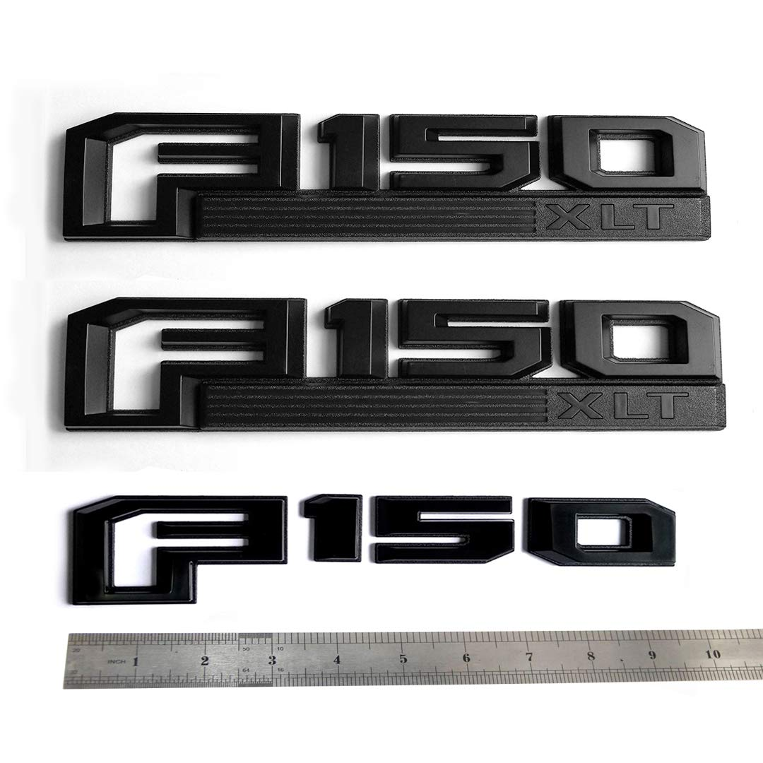 2x OEM F150 Limited Side Fender Badge Emblem 3D logo Nameplate Replacement for F-150 Black Origianl size Genuine Parts Sanucaraofo