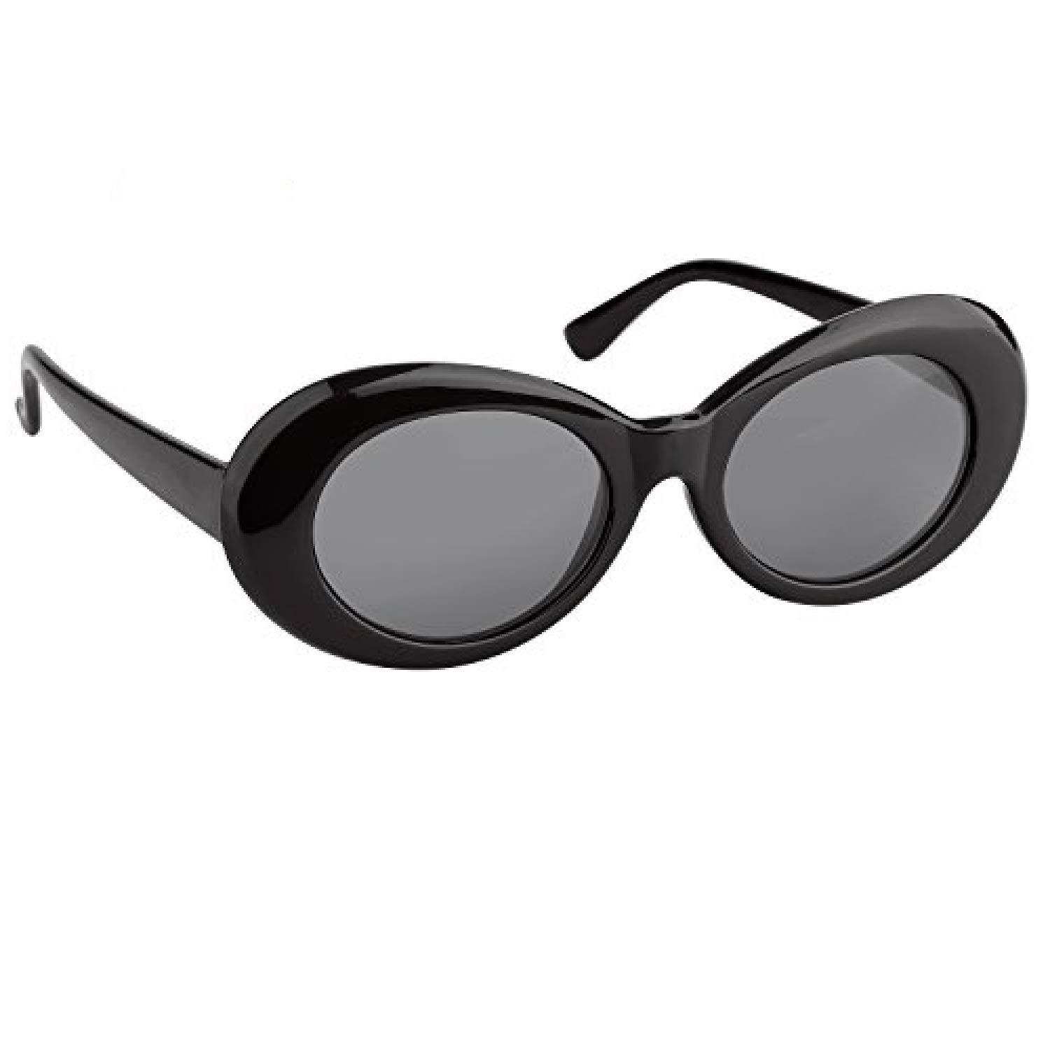 322c59816b5 Elimoons Clout Goggles Retro Oval Mod Thick Frame UV400 Sunglasses Lens 2  Pack Black
