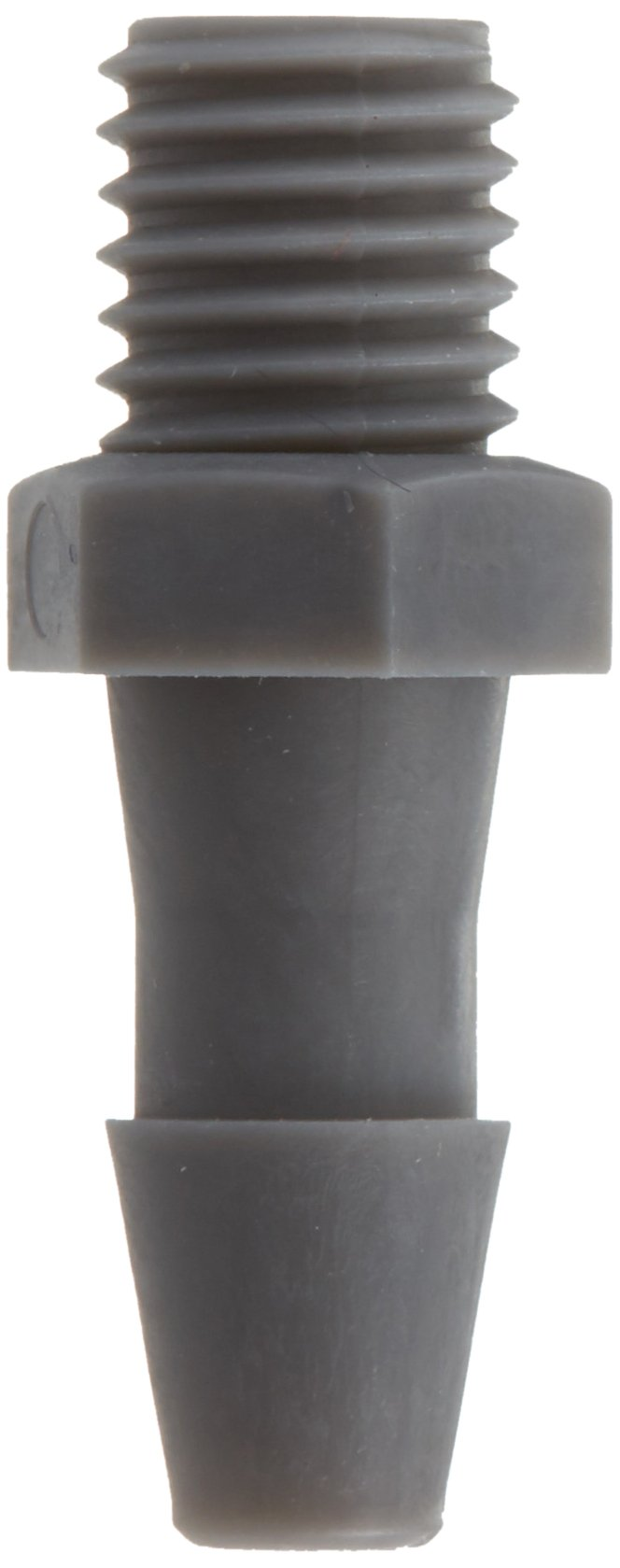 Eldon James A1428-2.5-200PVDF Gray Kynar Adapter Fitting, 1/4-28 UNF to 5/32'' Hose Barb (Pack of 10) by Eldon James