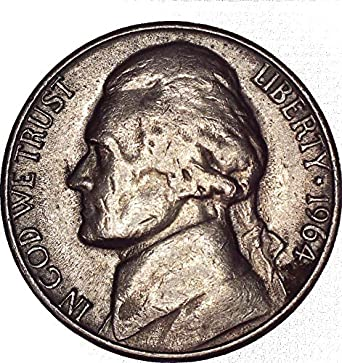 1964 D Jefferson Nickel 5C About Uncirculated At Amazons Collectible Coins Store