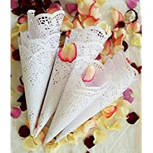 Already rolled Wedding Petal Cones (set of 50 assembled cones)