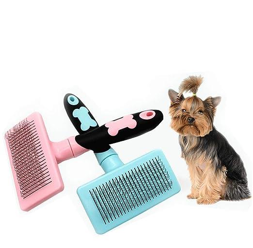 Huaaag El Peine del Pelo del Animal Doméstico, Limpia Automáticamente El Peine del Pelo, Peine Automático para El Peine del Pelo del Perro De La Limpieza ...