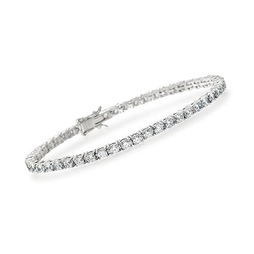 Ross-Simons 5.00-5.50 ct. t.w. CZ Tennis Bracelet in Sterling Silver