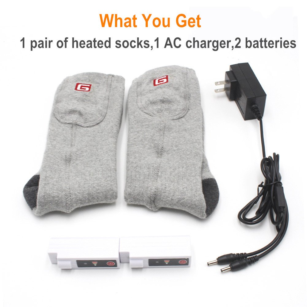 GLOBAL VASION Foot Warmers Electric Rechargeable Heated Socks for Hunting Skiing Fishing by GLOBAL VASION (Image #5)