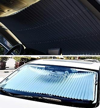 BESTEU New Car Summer Retractable Sunscreen Heat Insulation Shading Baffle Car Inside The Front Windscreen Visor Shade