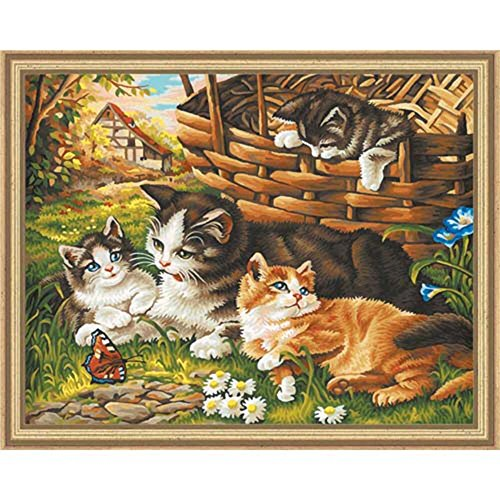 Schipper Cat Family Paint-by-Number