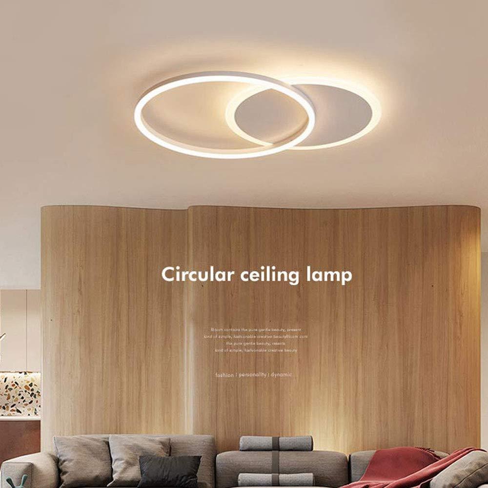 Amazon.com: LITFAD - Plafón de techo con anilla delgada LED ...