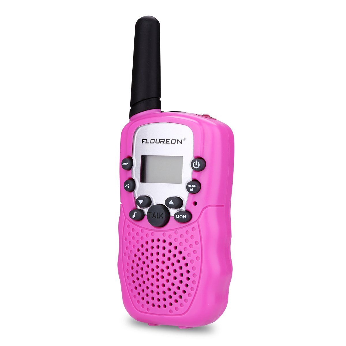 FLOUREON Walkie Talkies for Kids, Two Way Radio Toys 8 Channels Long Distance Range 2Pcs Interphone Pink