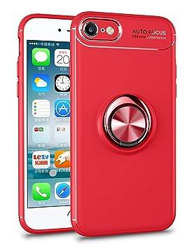 SORAKA Funda para iPhone 8 iPhone 7 Soporte rotación de 360 Grados, Carcasa de TPU Delgada y Compatible con Soporte magnético para Coche