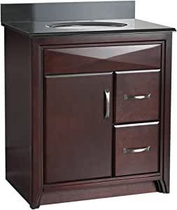 Foremost CALA3021DR Cavett 30-Inch Bath Vanity with Right ...