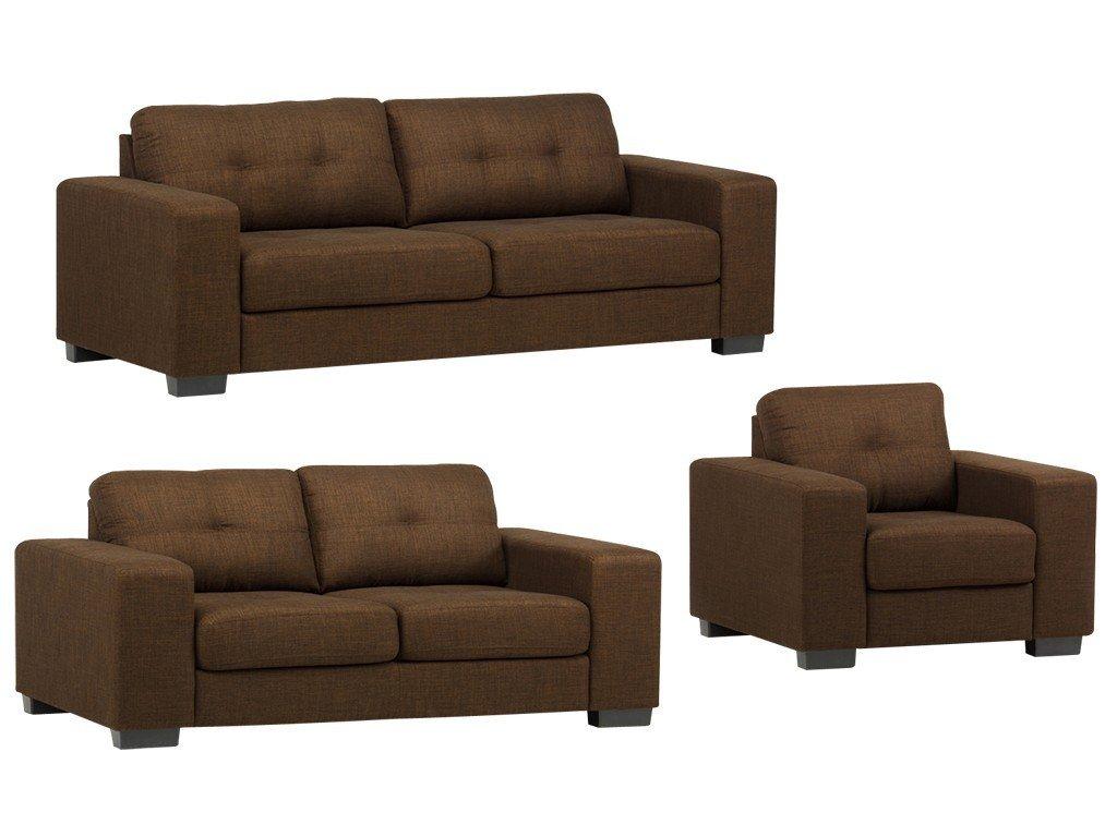 Design Sofagarnitur 3-2-1 Leonardo Braun