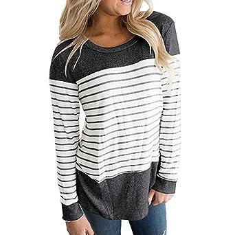 Mujer Camiseta – camisa – Camisa – Feixiang® Mujer Sudadera ...