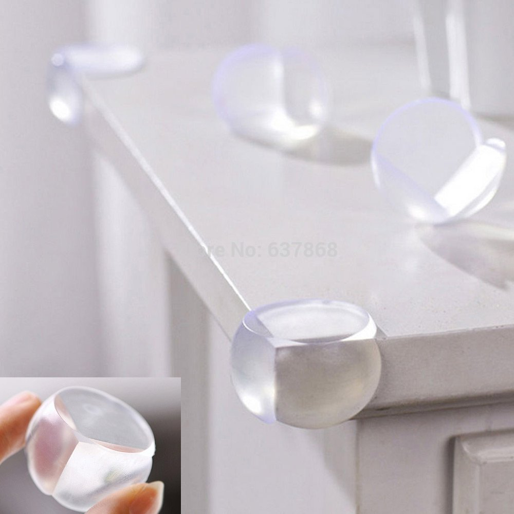 5pc Baby Safety Product Baby proofing Glass Table Corner Guards Child Rubber Desk Corners Protector seguridad Bebe