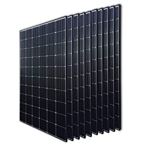 Renogy 10Pcs 300 Watt 24 Volt Monocrystalline Solar Panel 3000W for Off-Grid On-Grid Large Solar System, Residential Commercial House Cabin Sheds Rooftop, Multi-Panel Solar Arrays
