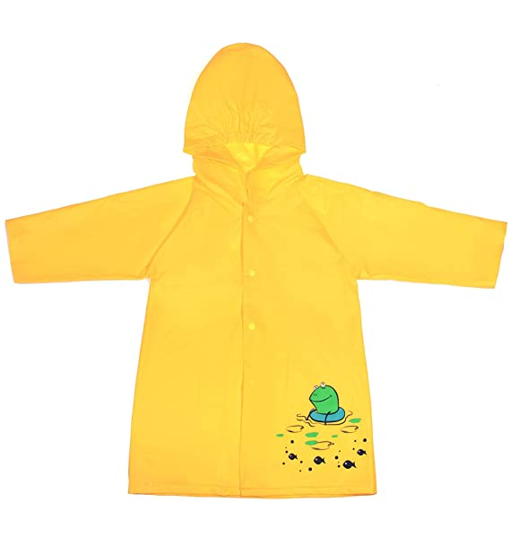 Superora Rain Poncho Cape Raincoat Children Rain Jacket Waterproof Children PVC Hooded Poncho Button Down