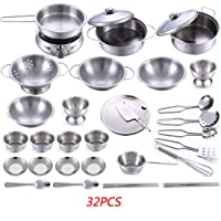 Deals on LZD 32-Pieces Stainless Steel Kitchen Toys