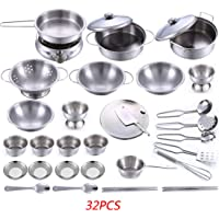 LZD 32-Pieces Stainless Steel Kitchen Toys