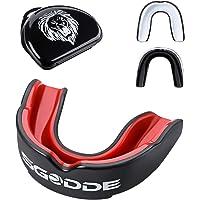 SGODDE Zahnschutz, Mundschutz mit hygienischer Aufbewahrungsbox,Zahnschutz Boxen,Gummi,anpassbarer Mundschutz für Erwachsene,Perfekt für Boxen, MMA, Rugby.