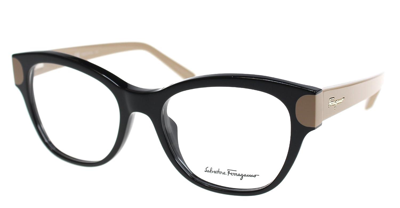 18c97fb786 Amazon.com  Eyeglasses FERRAGAMO SF2756 974 BLACK NUT  Clothing