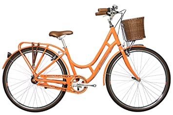 e795a99d72d Image Unavailable. Image not available for. Colour: Raleigh Women's Spirit  Street Classic Bike-Orange ...