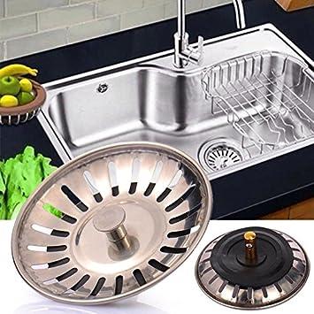 Gadget Zone UK Premium Edelstahl Küche Spüle Ablauf Ablaufgarnitur ...